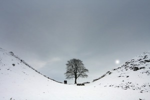 Hadrians wall snow